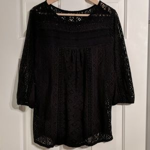 Lucky Brand Black Knit Top